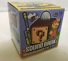 Super Mario Bros Question Mark Block Coin Bank Nintendo Toy Figure