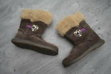 GIRLS CLARKS SIZE 5 F WINTER BOOTS WITH FAUX FUR TOP EUR 21