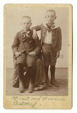 19th Century Children - Original 1800s Cabinet Card Photograph