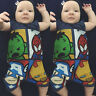 US Newborn Infant Baby Boy Girl Overall Romper Jumpsuit Bodysuit Clothes Outfits