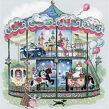 RIOLIS 14 Count Carousel Counted Cross Stitch Kit 13.75 by 13.75-inch