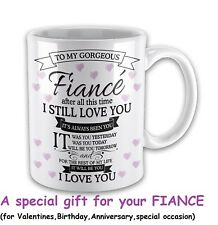 Gifts For Fiance Love Mugs Anniversary Birthday Day Gifts Ladies Her Presents
