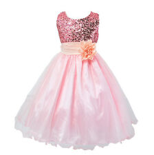 Kid Baby Girls Party Tutu Tulle Princess Dresses Wedding Pageant Sleeveless Gown