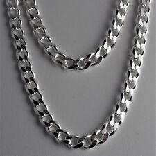 Heavy 8.3mm Solid 925 Sterling Silver Cuban Link Curb Chain Necklace 18 20 24 30
