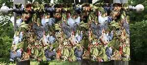 Chicken Rooster Country Farmhouse Green Leaf Farm Scenic Roosters Valance