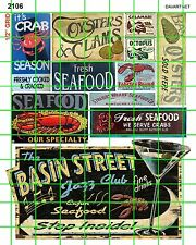 2106 DAVE'S DECAL SEAFOOD RESTAURANT OYSTER CLAMS CLAMS SHRIMP SIGNS ADVERTISING