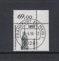 BRD Mi-Nr. 1860 zentrisch gestempelt Ersttag - Bogenrand / Eckrand / Ecke 2