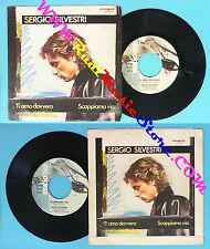 LP 45 7'' SERGIO SILVESTRI Ti amo davvero Scappiamo via 1981 italy no cd mc dvd