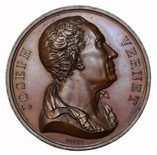 1818 Joseph Vernet Painter Galerie Metallique Series AE French Medal By Petit