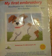 Stickpackung Hund Gobelinstich Sticken für Kinder 9709