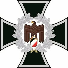 Aufkleber Eisernes Kreuz mit Adler Deutschland Autoaufkleber Konturschnitt