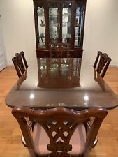 Dining Table With 4 Chairs and China Cabinet