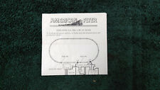 AMERICAN FLYER M3832 23791 COW ON TRACK INSTRUCTION PHOTOCOPY
