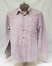 Mens Brown Striped Hugo Boss Long Sleeved Shirt Size XL  Lot FC24