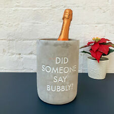 Concrete Cold Drinks Champagne Did Someone Say Bubbly Wine Bottle Cooler Holder