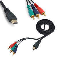 HDMI Male to 3 RCA Video Audio AV Cable Adapter For HDTV DVD 1080P Component W8