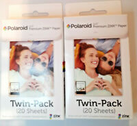 Polaroid Snap Touch Instant Cameras Zip Instant Printer Film 40 Sheets 2x 20 PK