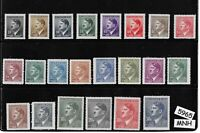 #5965    Full Adolph Hitler stamp set / 1942 Occupation / All 22 stamps are MNH