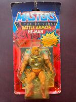 Vintage BATTLE ARMOR HE-MAN 1983 MOC MotU Original On Card