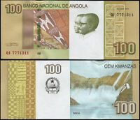 ANGOLA BILLETE 100 KWANZAS. 2012 (2013) LUJO. Cat# P.153a