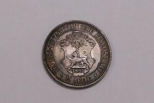 GERMAN EAST AFRICA 1/2 RUPIE 1891 SCARCE HIGH GRADE B32 #Z4870