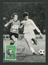 BELGIEN MK 1977 FUßBALL FOOTBALL SOCCER MAXIMUMKARTE MAXIMUM CARD MC CM c9103