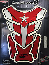 Puerto Rico PR Flag Red Metallic  Motorcycle Tank Pad tankpad guard protector