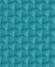 Rasch Deco Style - 504651 Vlies Tapete Grafik Dreiecke 3D Optik blau türkis