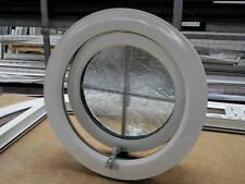 uPVC PVC plastic round window opening circular double glazed replacement