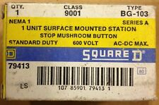SQUARE D 9001BG-103 SURFACE MOUNTED STATION STOP MUSHROOM BUTTON NEW