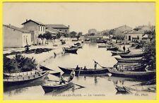 cpa 34 - PALAVAS les FLOTS (Hérault) La CANALETTE Animée Barques Enfants