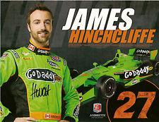 JAMES HINCHCLIFFE SIGNED 2018 INDIANAPOLIS 500 HERO PHOTO CARD PROMO INDY CAR
