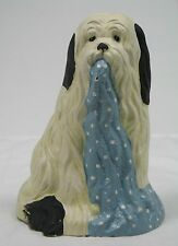 Doorstop Shaped Like Old English Sheep Dog Blanket Hanging from Mouth 102230 New