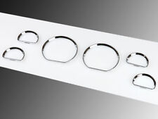 Chrome Gauge Dial Dash Bezel Rings Fit For Ford Mustang 94-04 6 PCS