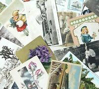 Mixed Lot of 39 Vintage Postcards Some Early 1900s RPPC Victorian Travel Linen +