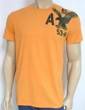 American Eagle Outfitters AEO 53-M Tee Shirt Mens T-Shirt Orange New NWT