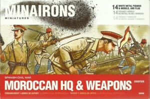Minairons Miniatures 1/72 Spanish Civil War Moroccan Regulars HQ & Weapons