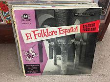 Antonia Calderon Y Jose Jorda El Folklore Espanol Spanish Folklore vinyl LP SMC