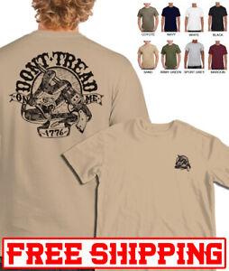 Don't Tread On Me T-SHIRT DTOM Gadsden Snake Flag Political Tee USA army