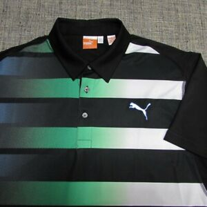 PUMA COOL CELL POLY SPANDEX GOLF SHIRT--L--AWESOME COLORS!!!--LOOKS UNWORN