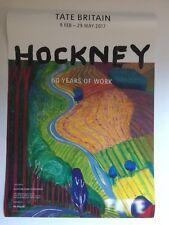DAVID HOCKNEY, original exhibition poster, Tate gallery, 2017
