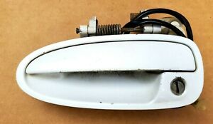 94-01 ACURA INTEGRA LEFT DRIVER SIDE EXTERIOR DOOR HANDLE FROST WHITE