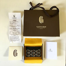 Goyard Black St Sulpice Card Holder Wallet Saint Honore Paris Brown Yellow White