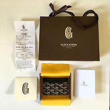Goyard Black St Sulpice Card Holder Wallet Saint Honore Paris Brown Yellow White