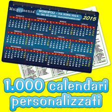 ★ 1.000 CALENDARI TASCABILI semestrini PERSONALIZZATI ★