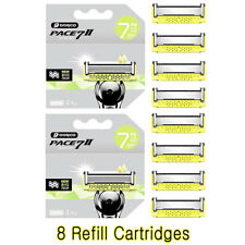 Dorco Pace 7 II Blade / 7 Blade Razor Shaver System 8 Refill Cartridges
