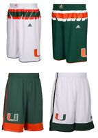 NEW Adidas Men's NCAA Miami Hurricanes On Court Premier Basketball Shorts