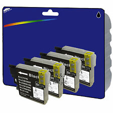 4 Black non-OEM LC985 Ink for Brother DCP-J125 DCP-J140W DCP-J315W DCP-J515W