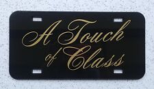 A Touch of Class Retro Auto License Plate - Lexan Heavy Gauge Plastic