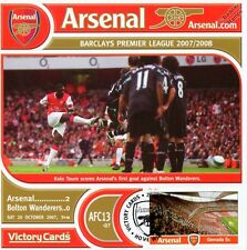Arsenal 2007-08 Bolton W. (Kolo Toure) Football Stamp Victory Card #713